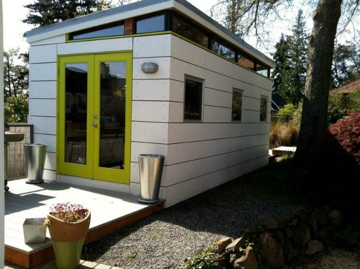 The Modern-Shed Studio Shed was a good solution price & design wise. It was a total aesthetic (decision) for me. The studio shed design was very modern