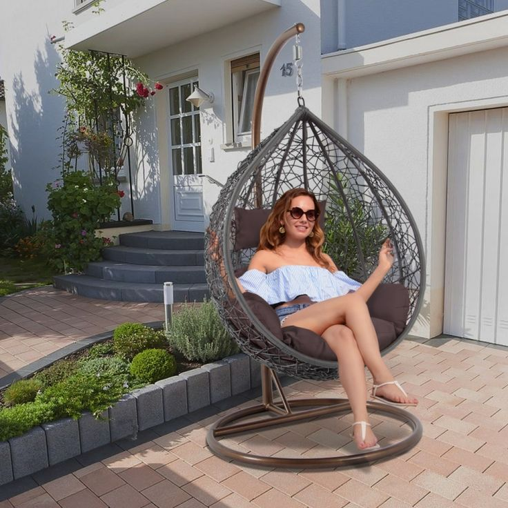 Garden Furniture Egg Shape Hammock Garden Swing Chair