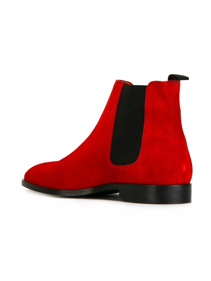 1379b125a53 nanaloafers - Men Red Chelsea Boots