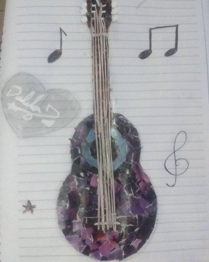 #collage #drawling #dibujando #revistas #guitarra #music #violet #first #inspiration #one #life #violeta #musica #inspiracion #magazine #primero #domingo #sunday by dali182