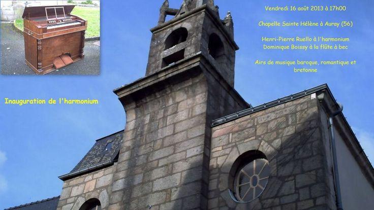 Auray : inauguration de l'harmonium de Ste Hélène 16.08.2013 - Lien : http://www.ar-gedour-mag.com/archive/2013/08/11/auray-inauguration-de-l-harmonium-de-ste-helene-5139091.html