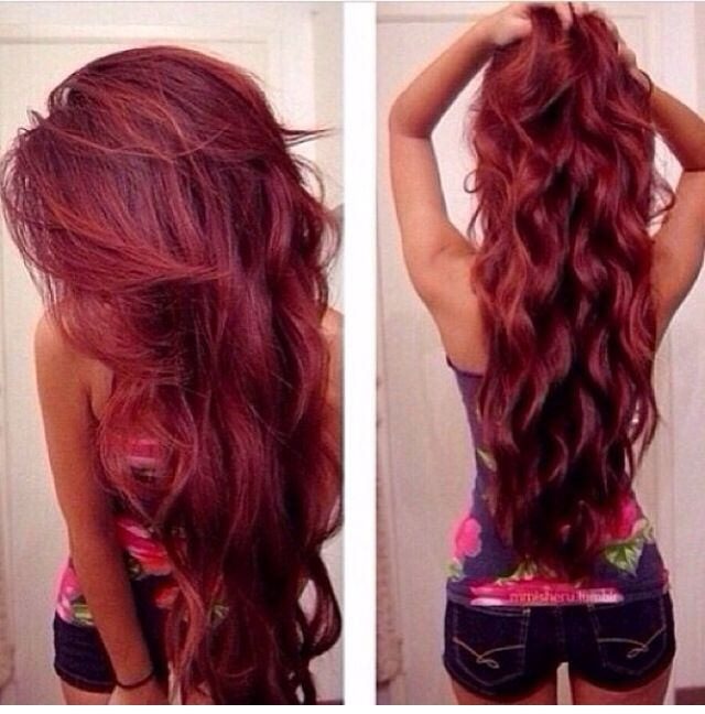 58 Best Long Red Hair Images On Pinterest Colourful Hair Hair