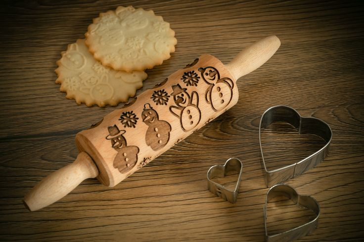 SNOWMAN Rolling Pin – In My Wood