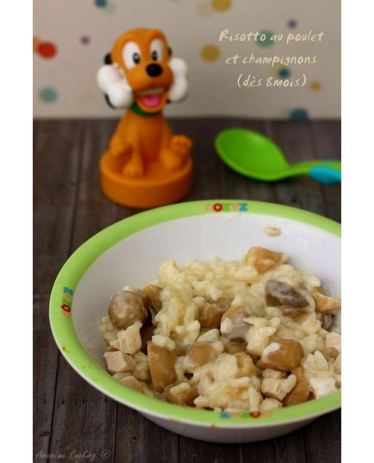 Risotto aux champignons et poulet (pour bébé dès 8mois)