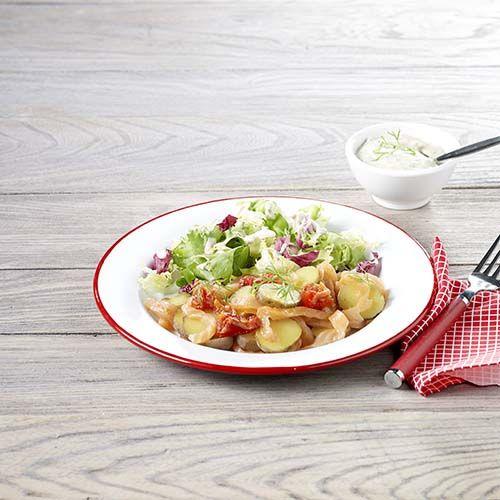 Aardappelsalade met zalm