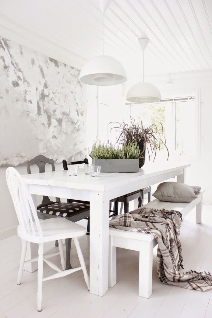White Dining Room Dining Kitchen Pinterest Mix N