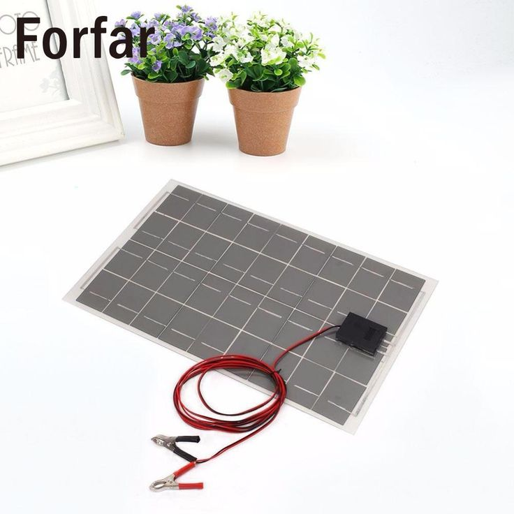 18V 30W Portable Smart Solar Power Panel Car Boat Battery Bank Charger with Alligator