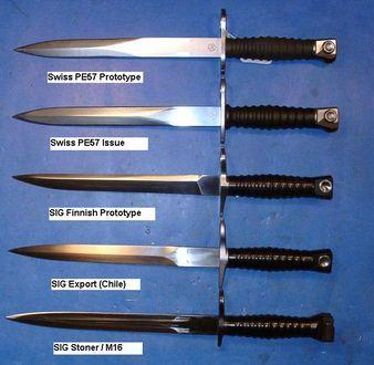 Bajonett és harci kés, US M3, M4, M5, M6, M7