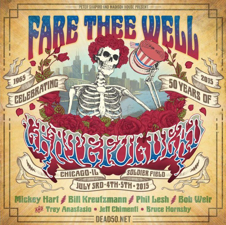 Grateful Dead 50th Anniversary | Grateful Dead at Soldier Field July 3-5th, 2015