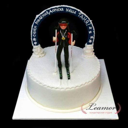 Торт для лыжницы