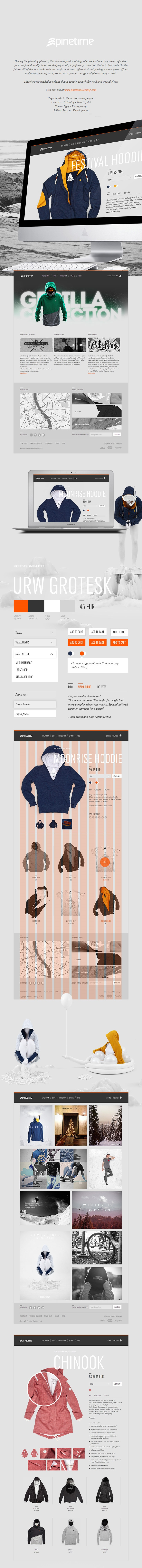 Pinetime Clothing Webdesign