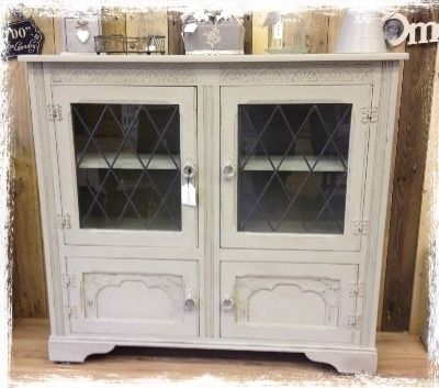 £245 Display Cabinet Painted in Autentico Linen