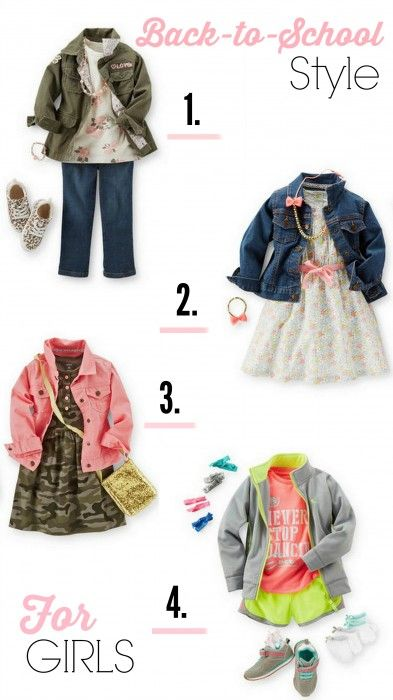 From CupcakeMag.com: Back-to-school styles for girls from Carter's. #CartersFallStyle