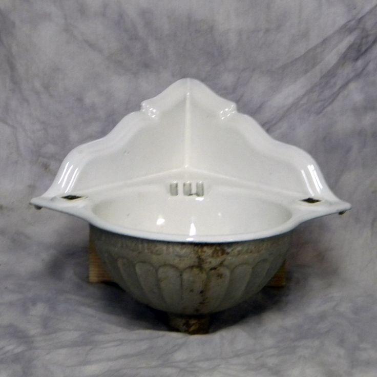 Vintage Corner Sink : https://www.google.com/search?q=antique porcelain double laundry sink