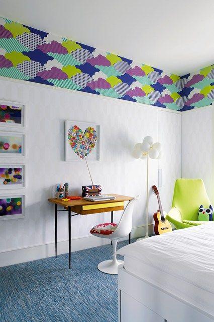 Girl's Cloud Bedroom Wallpaper - Kids Bedroom Ideas & Designs (houseandgarden.co.uk)