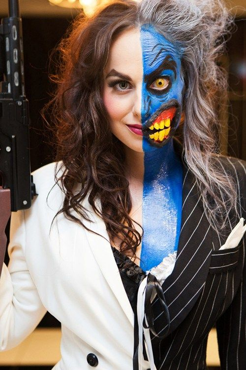 Some Women are Two-Faced | Face, Halloween costumes and Costumes