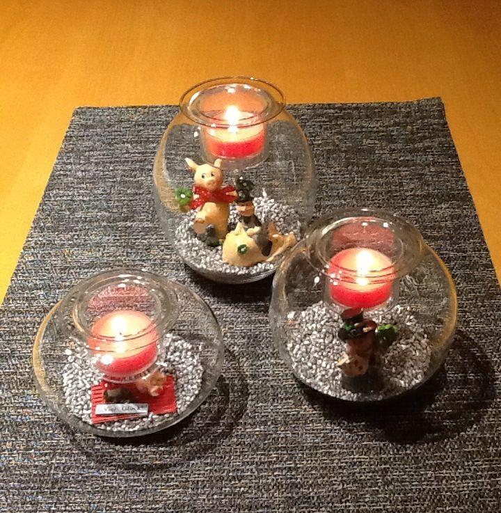 Ballonvotivkerzenhalter Vernissage, Trio Clearly Creative. Drei mundgeblasene Glashaltern in bauchiger Form, jeweils mit einem herausnehmbaren Kerzeneinsatz. Für  Votivkerzen und Teelichter. https://susannerentsch.partylite.ch/Shop