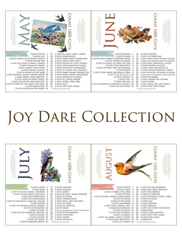 Joy Dare Collection We just started doing this a family at dinner. <3