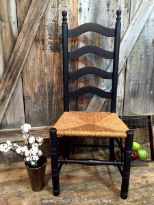 Black Painted Ladder Back Chair