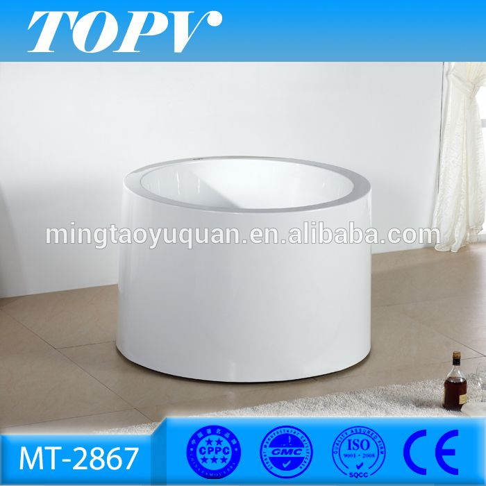 Modern Freestanding Soaking 100cm Very Small Round Bathtubs Sizes For One  Person Baths In Bathroom MT