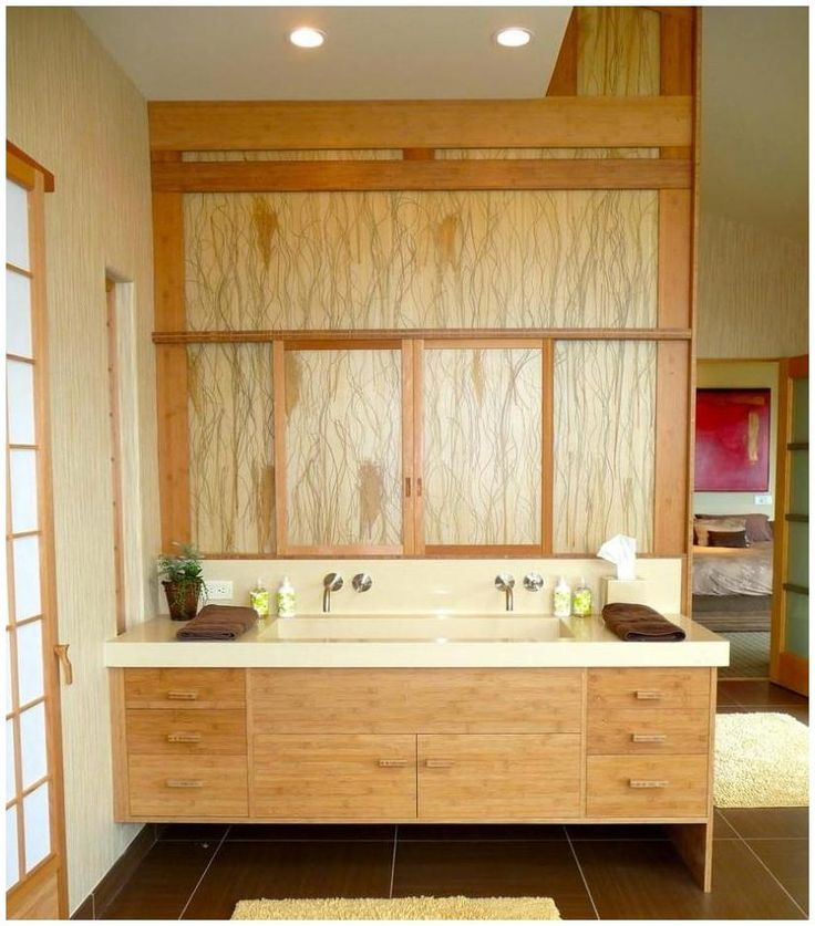 Bamboo Vanity Bathroom Photo Decorating Inspiration