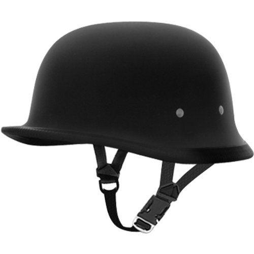 Daytona German Basic/Custom Novelty Cruiser Motorcycle Helmet - Dull Black / Medium. For product info go to:  https://www.caraccessoriesonlinemarket.com/daytona-german-basiccustom-novelty-cruiser-motorcycle-helmet-dull-black-medium/