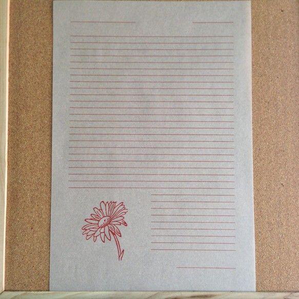 活版印刷×トレーシングA4サイズの便箋です便箋10枚&封筒5枚セットになっています|ハンドメイド、手作り、手仕事品の通販・販売・購入ならCreema。