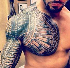 Brick Wall Chest Tattoo