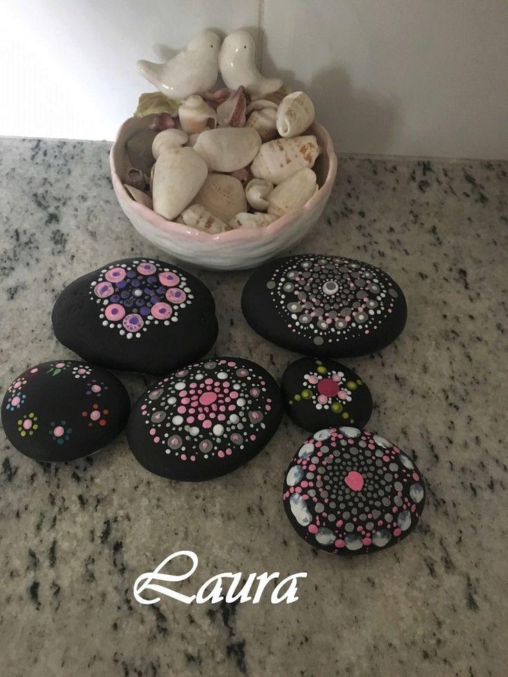 Piedras pintadas (tecnica puntillismo)