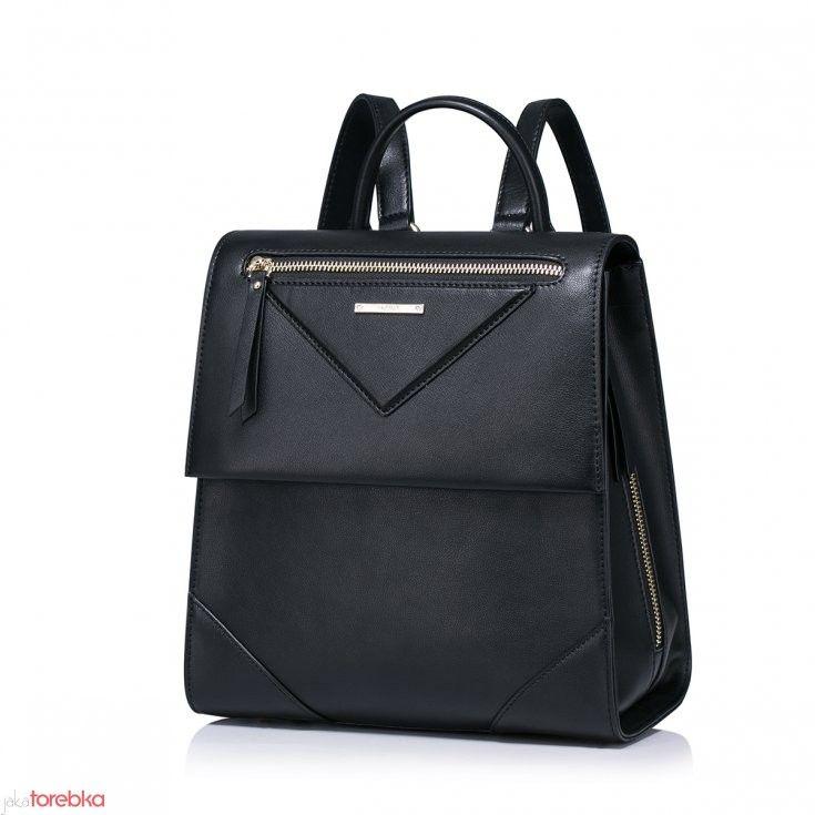 Modny plecak z naturalnej skóry Czarny