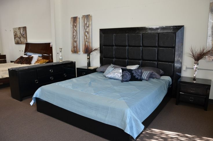 Bedroom  Masculine Full Size Bed With Tufted Headboard And Black Bedside Cabinet Plus Elegant Wall To Wall Carpet Ergonomic Full Size Bed Decor Ideas with  Neutral Bedding Set Tones