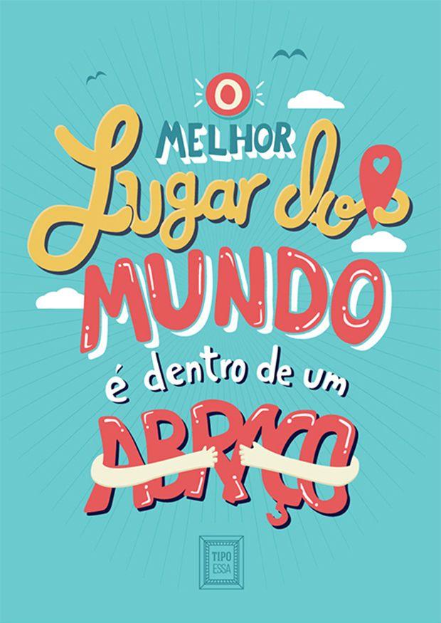"Projeto ""Tipo Essa"" transforma letras de músicas em cartazes tipográficos. #TipoEssa #project #posters #printables"
