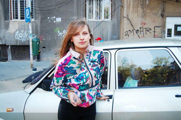 Lana, the designer www.lanadumitru.com Puma Etno Star Jacket by Lana Dumitru  #lana #dumitru #lanadumitru #digitalprint