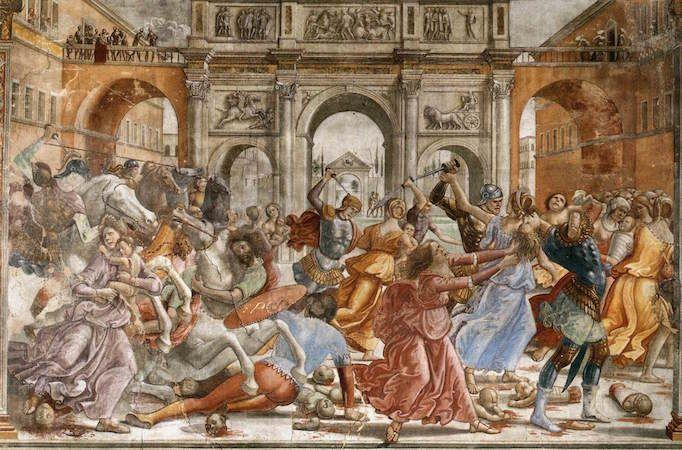 Massacre of the Innocents fresco by Domenico Ghirlandaio (Cappella Maggiore,Santa Maria Novella, Florence)