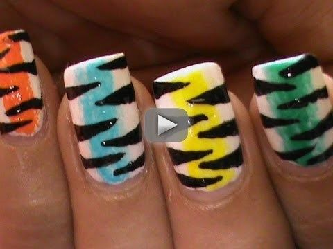 Rainbow Tiger!  Nail Art Designs Easy Youtube Do It Yourself Nails Step By Step How To Do Nails Art - Acrylic paint set -  (You may use this site-wide 10% off coupon - SWSK31!!!!). Colorful rainbow Tiger Nail Art Designs Easy Youtube Do It Yourself Nails Step By Step Nails Art How To do nail art channel website  superwowstyle website --  Cute Tiger Print Animal Zebra Print Nail Art Designs Easy Nail Art Designs tumblr --  Freehand Tiger Nails and Tiger Nail Art Designs Nail Art Design…
