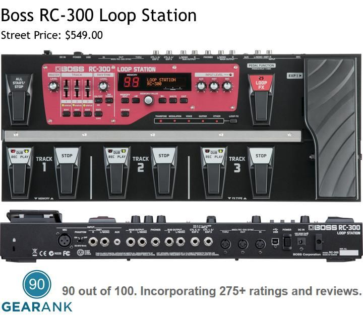 Boss RC-300 Loop Station. Key Features: - 3 Dedicated Stereo Loops - Effects: Transpose, Flanger, Phaser, Slicer, Bend, Chorus, Robot, Female, Male and more - USB Storage - 48V Phantom Power - Multiple input/output options for mics and instruments
