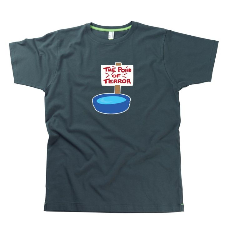 The Pond Of Terror Adults T-Shirt from Teds Tees by HairyBaby, official supplier of Father Ted T-shirts