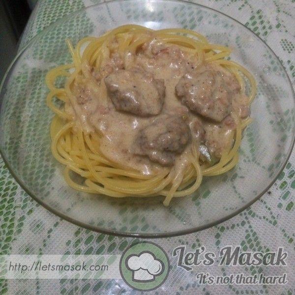 Resipi / resepi / recipe Spaghetti Carbonara Versi Malay