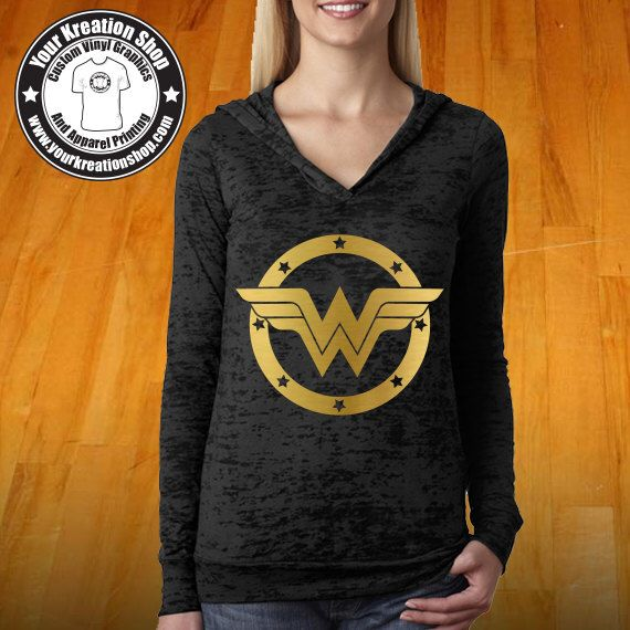 Wonder Woman Gold Print Burnout Hoodie Racerback Burnout Tank Top. Funny Womens Workout Hoody Tops. Cross Training Hoody. DC Comics Batgirl by YourKreationShop on Etsy https://www.etsy.com/listing/474419382/wonder-woman-gold-print-burnout-hoodie