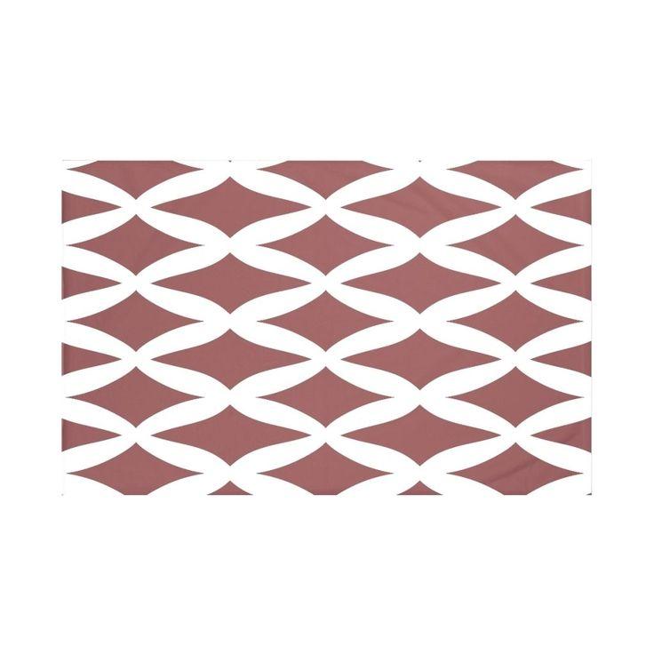 E by Design Navy Blue/ Rust/ Purple Geometric Print Throw Blanket (Rust), Red, Size Full