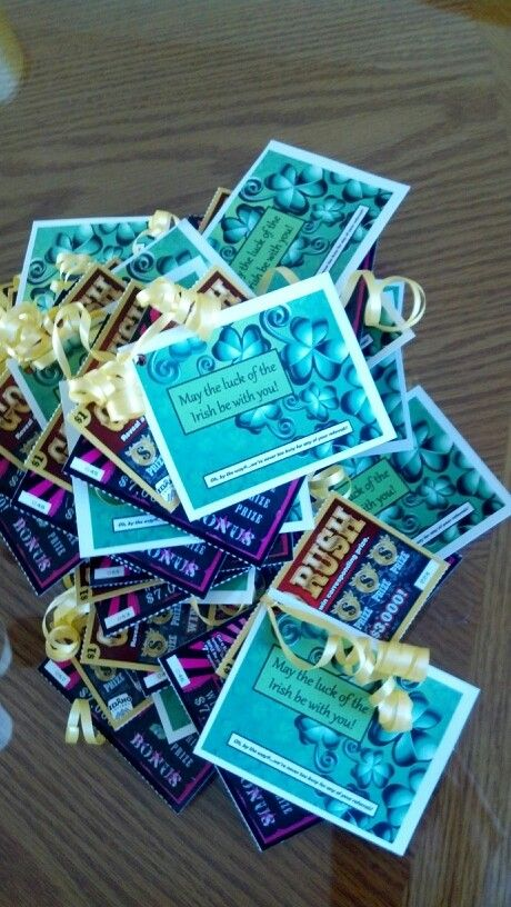 """St. Patty's Day pop-bys. """"Hope we give away some winners because you sure are to us!"""" Lotto Luck"""