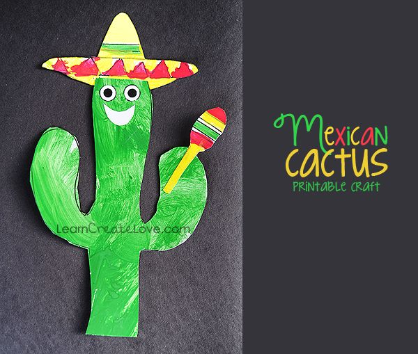 Fun Cinco de Mayo craft ~ free printable! LearnCreateLove.com