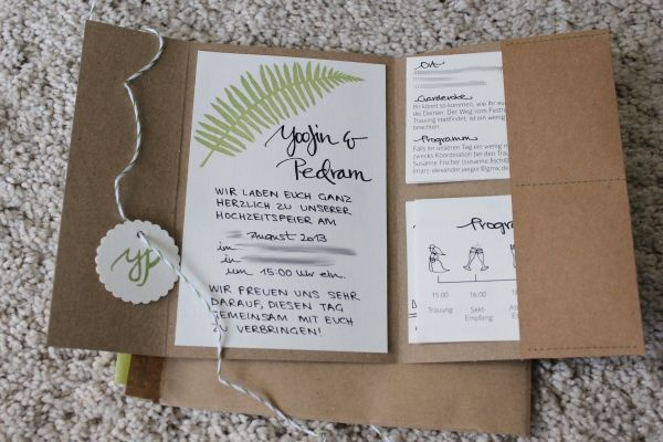 Creating impossible gardens: Tadaa....our wedding invitations!