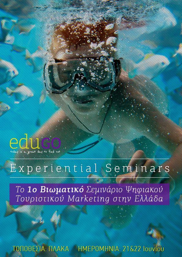 Το 1ο Ελληνικό Βιωματικό Σεμινάριο με θέμα Digital #Tourism #Marketing, είναι γεγονός! Join http://bit.ly/edugdtm