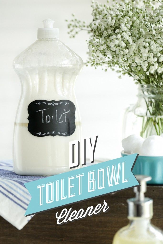 DIY Toilet Bowl Cleaner. This cleaner is made with only 4-5 natural ingredients and packs a powerful cleaning punch! Scrubs away dirt, odors and anything else lurking inside your toilet bowl!