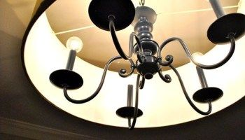Upgrading An Old Chandelier With Paint & A New Shade | Young