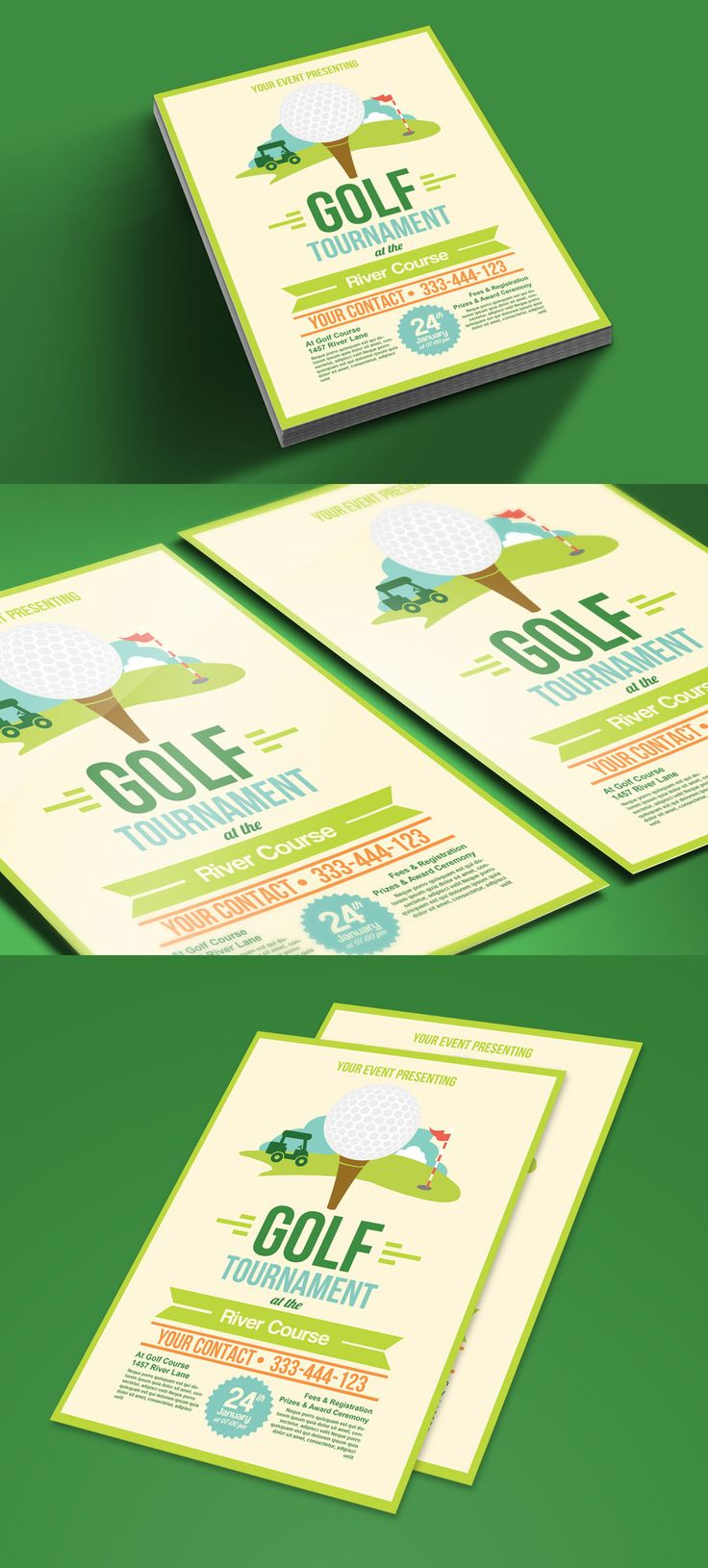 Best Golf Tournament Promotional Print Templates Images On