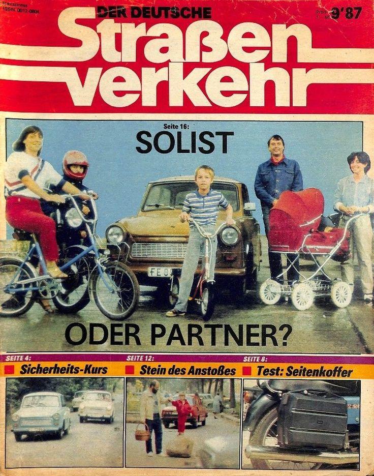 DDR 024 NR 9 1987 DER Deutsche Straßenverkehr Magazin Verkehr Fahrzeuge MOT | eBay