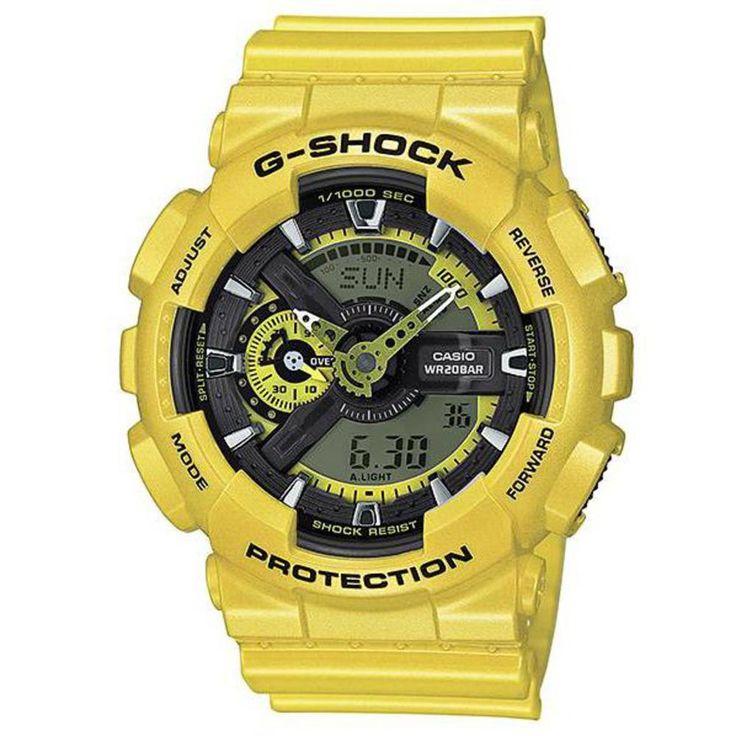 CASIO Orologio G Shock Neo Metallic Series GA-110NM-9A Ana-Digital Yellow