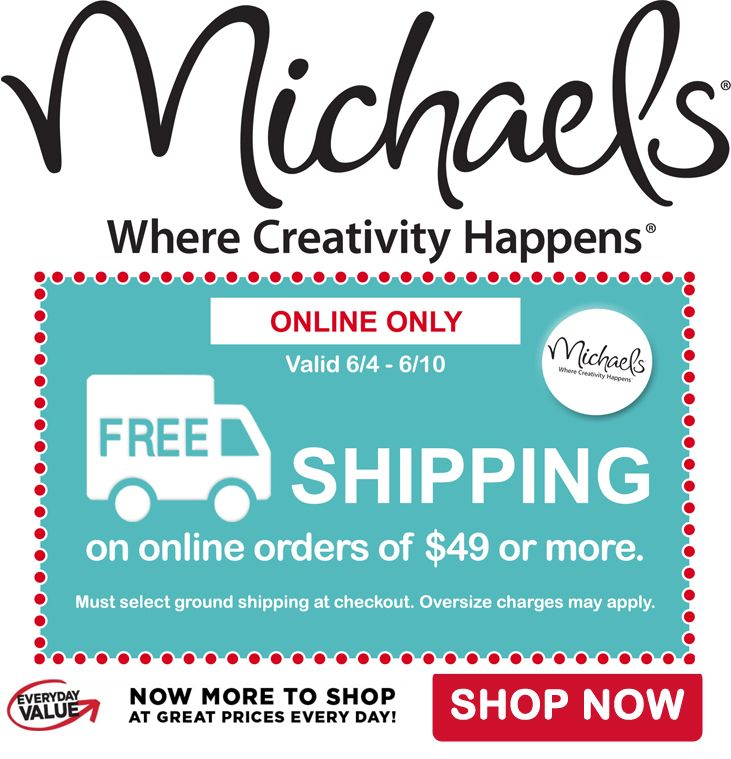FREE Shipping on orders of $49+ at Michael's Craft Stores http://www.jdoqocy.com/click-8073674-12964541 afflink #freeshipping #coupon